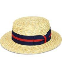 country gentlemen men's boater straw hat