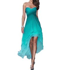 dislax high low gradient chiffon prom dresses homecoming dress green us 2