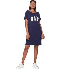 vestido azul navy-blanco gap