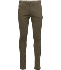 joe chino pant chino broek groen knowledge cotton apparel
