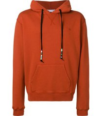 jw anderson beaded drawstring hoodie - red