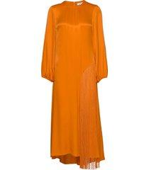 rodebjer majorelle fringe maxi dress galajurk oranje rodebjer