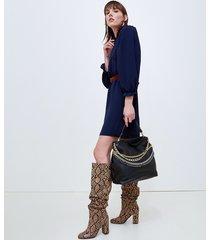motivi vestito corto con cintura donna blu