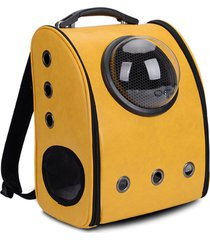 pet carrier backpack space capsule faux leather cat dog travel bags