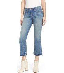 women's blanknyc step hem crop jeans, size 30 - blue