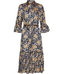 satin midi shirt dress knälång klänning multi/mönstrad by ti mo