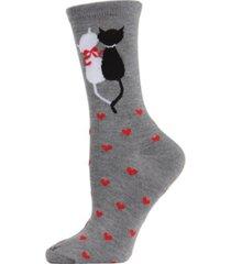 memoi women's kitty love crew socks