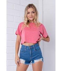 t-shirt cropped pkd rosa - kanui