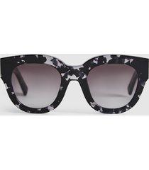 reiss cleo - monokel eyewear acetate sunglasses in grey, womens