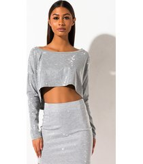 akira give 'em hell rhinestone off shoulder crop top