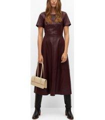 mango women's faux-leather dress