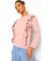 sweater met ruches, rose