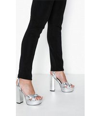 river island cross vamp plat high heel