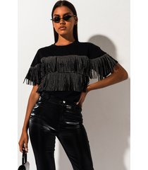 akira get with the times fringe top