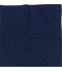 liska vittoria fine knit scarf - blue