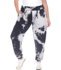 white mark women's plus size tie dye harem pants