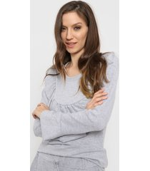 sweater gris destino collection volados