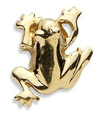 18k yellow gold frog charm - luck