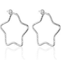 orecchini a cerchio silver collection argento stella per donna