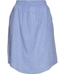 boxer skirt chambray rok knielengte blauw moshi moshi mind