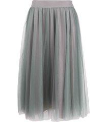 fabiana filippi flared pull-on skirt - grey