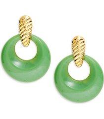 kenneth jay lane women's goldplated drop earrings