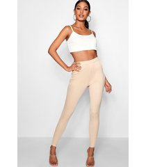 basic stretch scuba skinny fit broek, zand