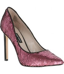 zapato tatiana lentejuelas rosadas mujer nine west