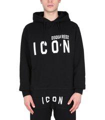 dsquared2 icon hooded sweatshirt