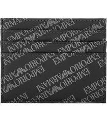 emporio armani men's credit card holder - black