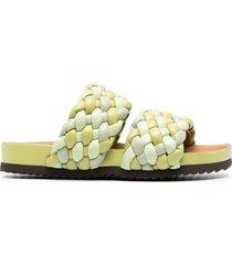 paul warmer braided-strap sandals - green