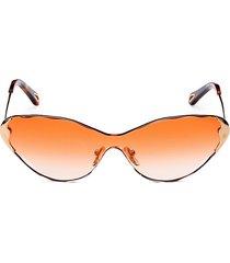 chloé women's 60mm cat eye metal sunglasses - gold gradient