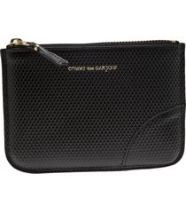 comme des garçons wallet 'luxury group' zip purse - black