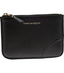 comme des garçons wallet 'luxury group' zip purse - black