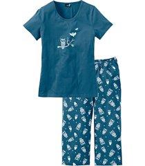 pigiama con pinocchietto (petrolio) - bpc bonprix collection