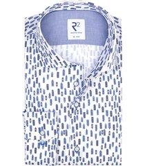 r2 amsterdam shirt wit blauwe huisjes