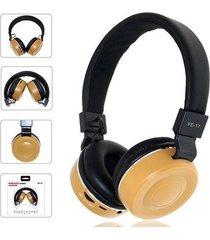 audífonos bluetooth, fe-17 plegable auriculares - amarillo