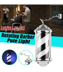 barber shop polo negro blanco gira el led barra de luz rayas inscripción hair salon logo - enchufe de la ue