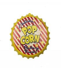 enfeite decorativo tampa popcorn cor amarelo plã¡stico 27x27 - branco - dafiti