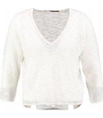 only korte off white dunne trui 3/4 mouw