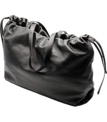 brunello cucinelli soft leather handbag and shoulder bag with drawstring closure with jewels and inside pockets