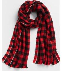 bufanda cozy cuadros rojo gap
