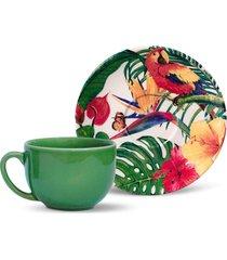 jogo de xícaras de chá porto brasil 12 peças coup paradiso branco