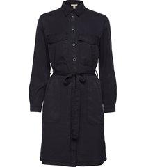 dresses light woven knälång klänning svart edc by esprit