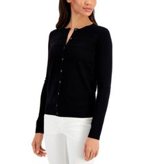 charter club pointelle-stripe cardigan, created for macy's