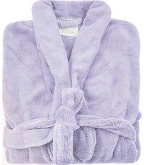 roupão de banho microfibra soft feminino camesa tam. gg lilás