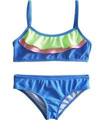 bikini azul brillantina piña
