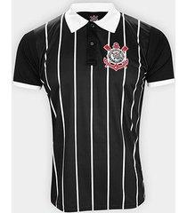 camisa polo corinthians stripes democracia corinthiana masculina