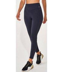 calça legging alto giro emana recortes com trançador preto 2111337 preto