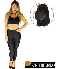 leggings deportivo con panty levantacola - efecto invisible